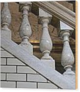 Marble Staircase Wood Print