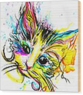 Marble The Cat Wood Print