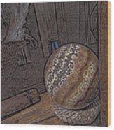 Marbled Ball Wood Print