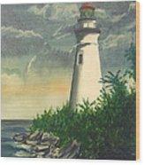Marblehead Light On Lake Erie Wood Print