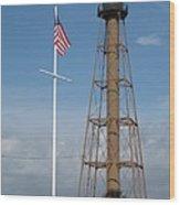 Marblehead Light Tower Wood Print
