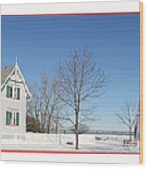 Marblehead Lighthouse In Snow Wood Print
