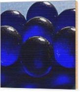 Marbles Blue 1 C Wood Print