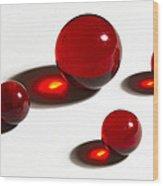 Marbles Red 2 Wood Print