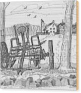 Marbletown Farm Equipment Wood Print