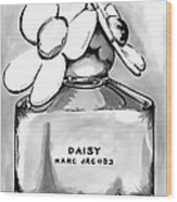 Marc Jacobs Daisy B Lack And White Wood Print
