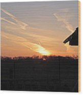 March 22  Countryside Sunrise Wood Print
