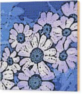 March Of The Daisies Wood Print
