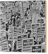 March On Washington Wood Print