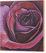 March Rose Wood Print