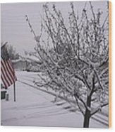 March Snowfall Wood Print