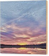 March Sunset At Whitesbog Wood Print