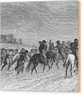 March To Trenton, 1776 Wood Print