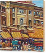 Marche Bonsecours Old Montreal Wood Print