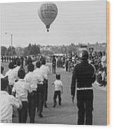 Marchers Number 2 100th Anniversary Parade Nogales Arizona 1980 Black And White  Wood Print