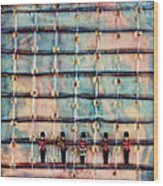 Marching Band Encaustic Wood Print
