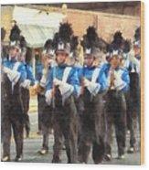 Marching Band Wood Print