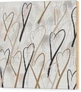 Marching Hearts Wood Print