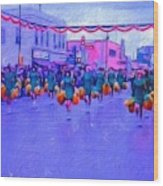Marching In The Parade Wood Print