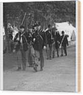 Marching Off To Battle Wood Print