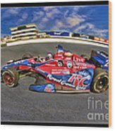 Marco Andretti Wood Print by Blake Richards