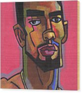 Marco With Gold Chain Wood Print by Douglas Simonson