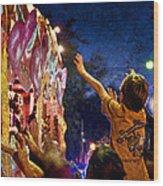 Mardi Gras At Night Wood Print by Ray Devlin