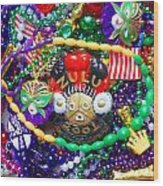 Mardi Gras Beads 1 Wood Print