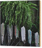Mardi Gras Beads New Orleans Wood Print by Christine Till