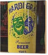 Mardi Gras Beer 1983 Wood Print