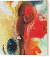 Mardi Gras - Colorful Abstract Art By Sharon Cummings Wood Print