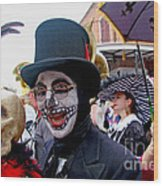 Mardi Gras Costumes Photo Wood Print
