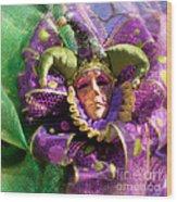 Mardi Gras Decoration Wood Print