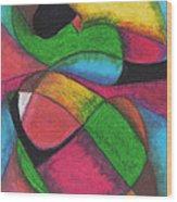 Mardi Gras Wood Print by Ellen Howell