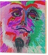 Mardi Gras Face Wood Print
