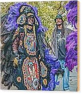 Mardi Gras Indian Wood Print