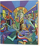 Mardi Gras Lets Get The Party Started Wood Print