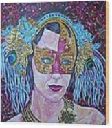 Mardi Gras Wood Print by Linda Vaughon