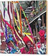 Mardi Gras Marching Parade Wood Print