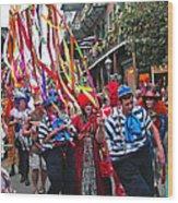 Mardi Gras In New Orleans Wood Print