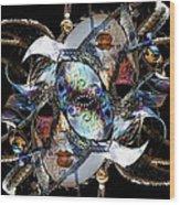 Mardi Gras Medusa Wood Print