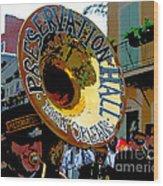 Mardi Gras Preservation Hall Photo Artistic Wood Print