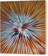 Mardi Gras Star Clown Wood Print