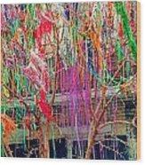 Mardi Gras Tree Wood Print