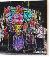 Mardi Gras Vendor's Cart Wood Print