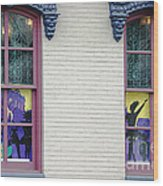 Mardi Gras Windows Wood Print