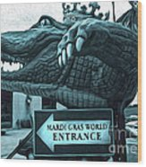 Mardi Gras World - Alligator Wood Print