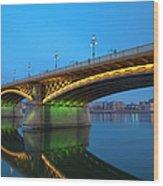 Margaret Bridge And The Parliament Wood Print