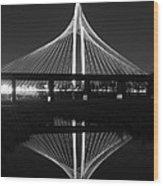 Margaret Hunt Hill Bridge Reflection Wood Print