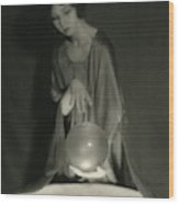 Margaret Severn With An Orb Wood Print